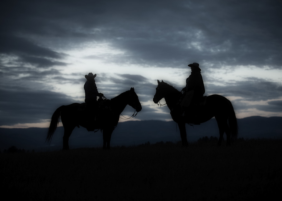 Horse and Wrangler Silhouete