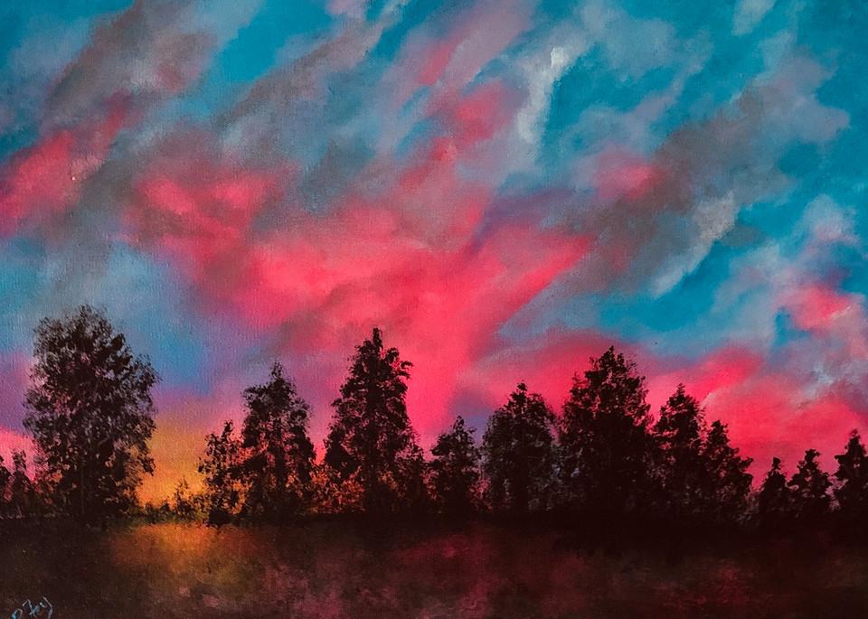 Pink Sky Sunset Art | House of Fey Art
