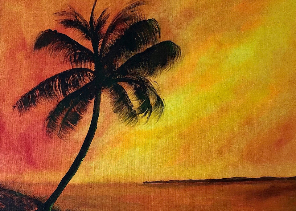 Sunset In Paradise Art   House of Fey Art