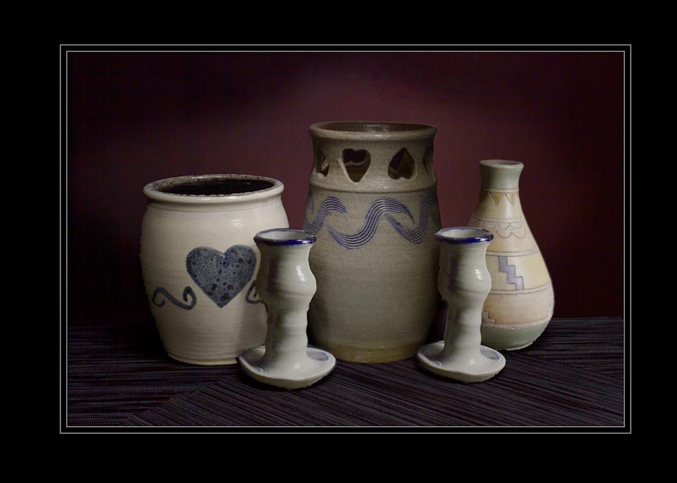 A Fine Art Photograph of Grouped Chinaware by Michael Pucciarelli