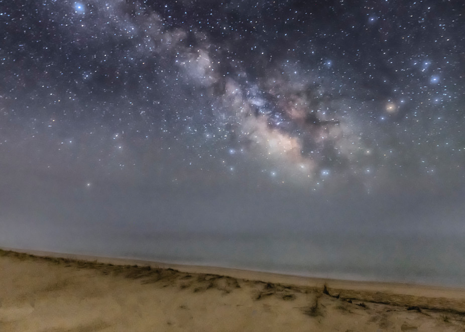 South Beach Milky Way Fog Art | Michael Blanchard Inspirational Photography - Crossroads Gallery