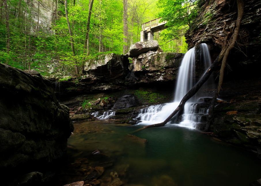 Cloudland Canyon Bridge - Georgia waterfalls fine-art photography prints