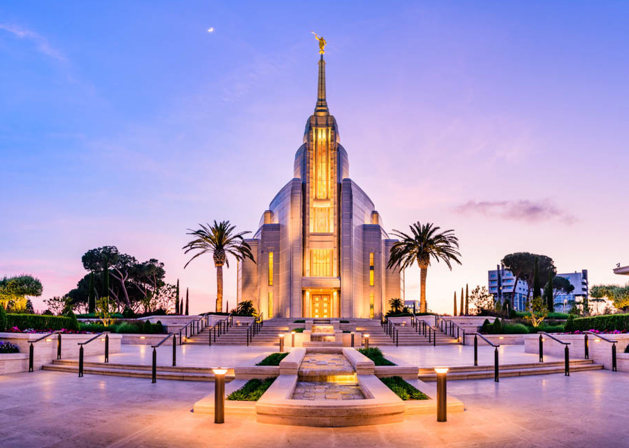 Rome Italy Temple - Summer Evening