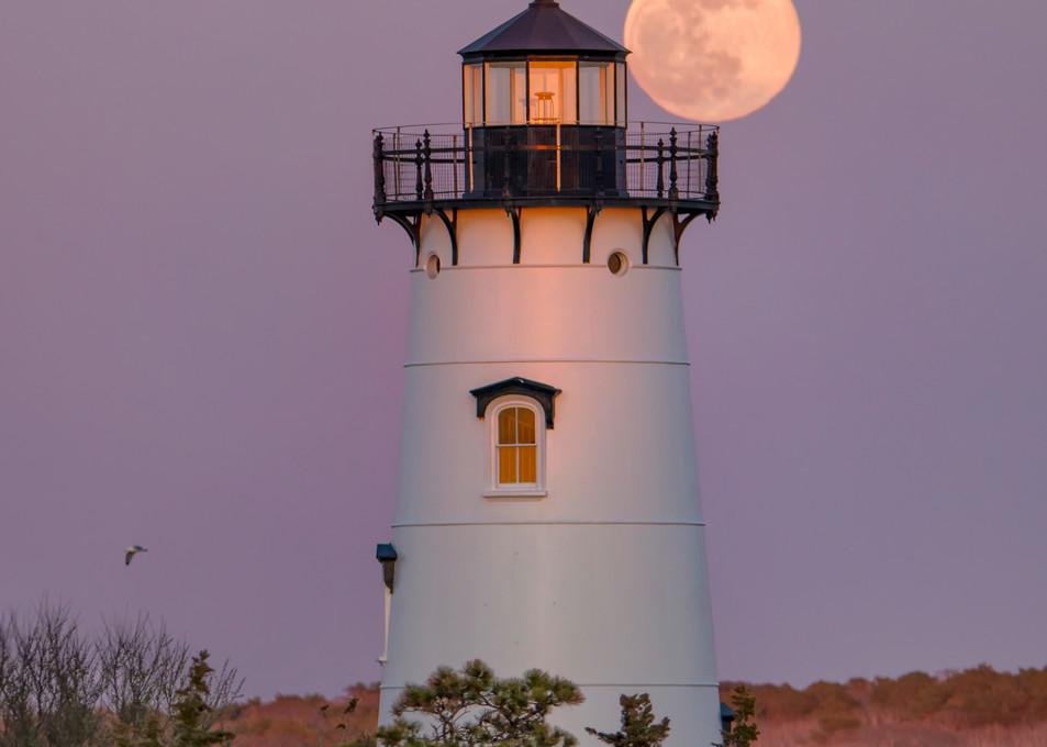 Edgartown Pink Moon Balcony Art | Michael Blanchard Inspirational Photography - Crossroads Gallery