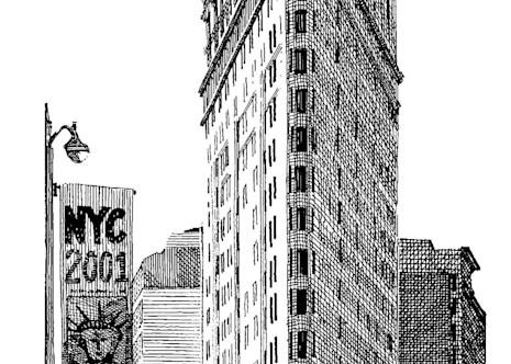 Flat Iron Building, Nyc Art | Andre Junget Illustration LLC