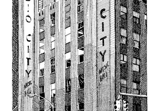 Radio City, Nyc Art | Andre Junget Illustration LLC