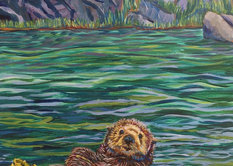 Homer Otter by Alaska artist Amanda Faith Thompson