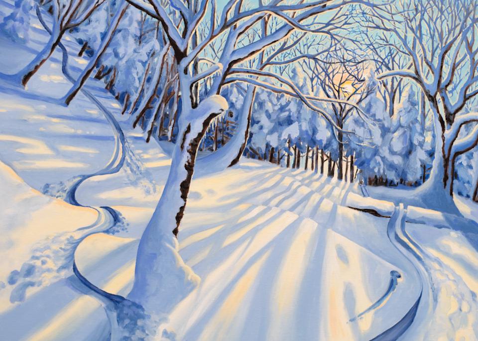 'Gnarnia' Vermont Ski Art for Sale