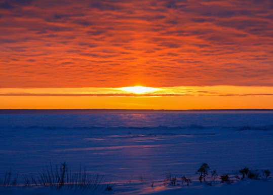 Sunrise Over The Straights Of Mackinaw Photography Art   Ursula Hoppe Photography