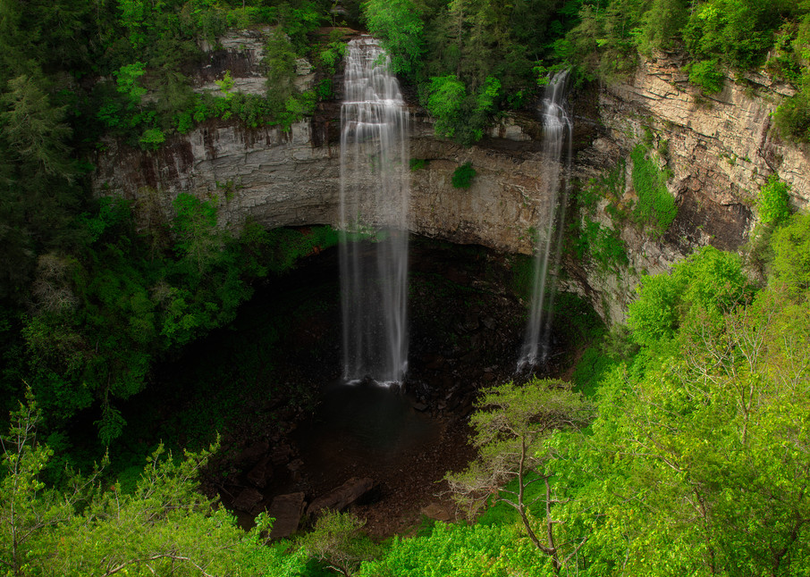 Fall Creek Falls Overlook - Smoky Mountains waterfalls fine-art photography