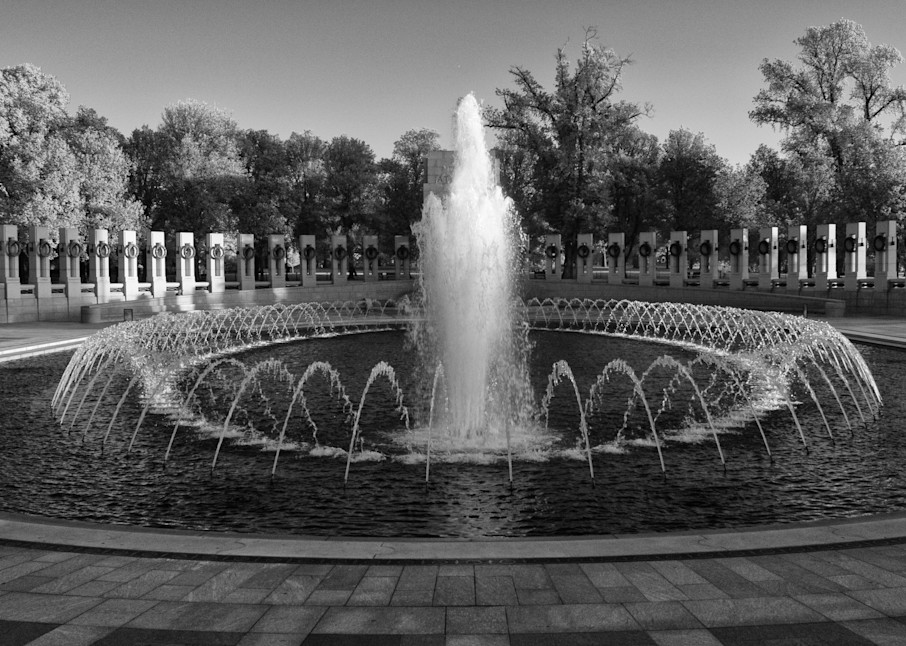 WWII Memorial Infrared Black and White