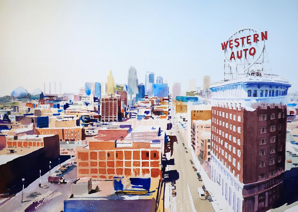 Kc Skyline 4 Western Auto Art | Steven Dragan Fine Art