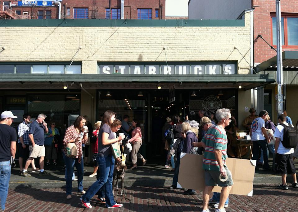 Original Starbucks   Seattle Photography Art | Kathleen Messmer Photography