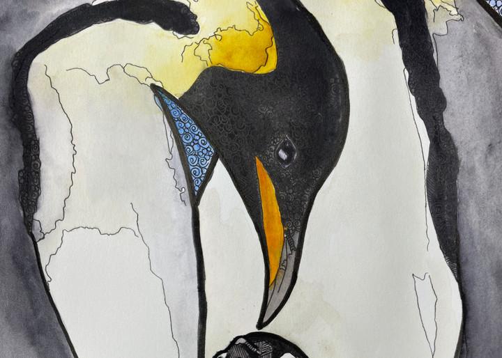 Emperor Penguins Art   Water+Ink Studios
