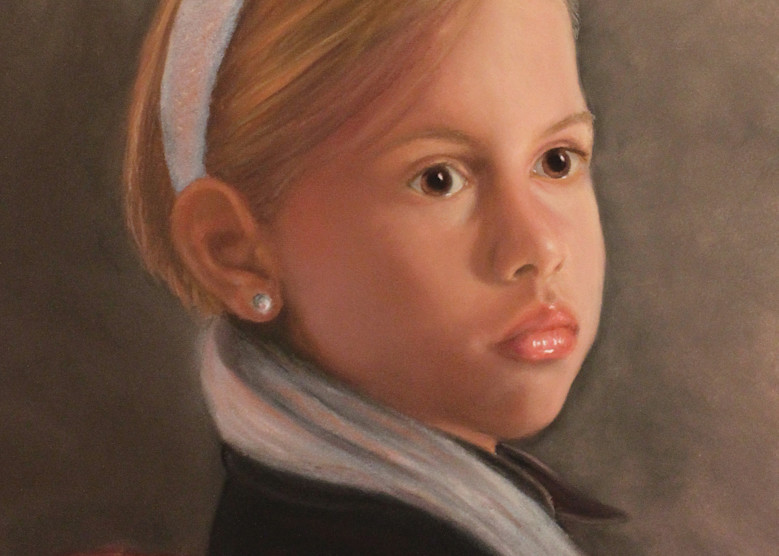 Girl With The Silver Sash by Nancy Conant is a girl wearing scarf