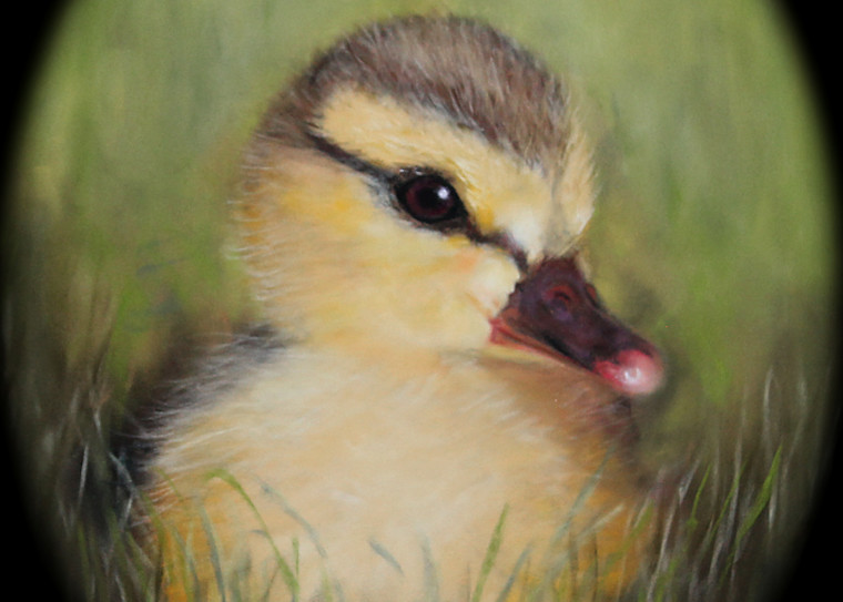Duckling painting Lucky Ducky by Nancy Conant