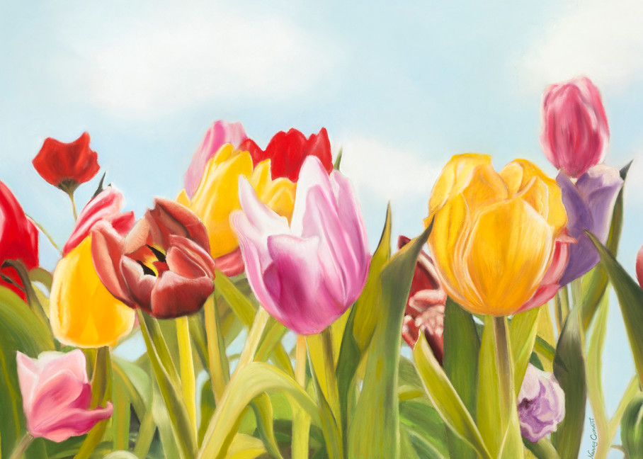 Tulip Delight by Nancy Conant is a beautiful colorful flower painting
