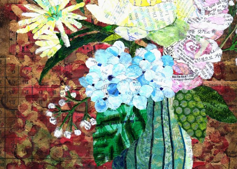 White Flower Bouquet Art | Poppyfish Studio
