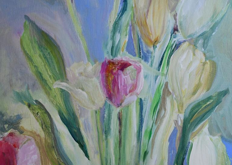 Bouquet Of Tulips Art | All Together Art, Inc Jane Runyeon Works of Art