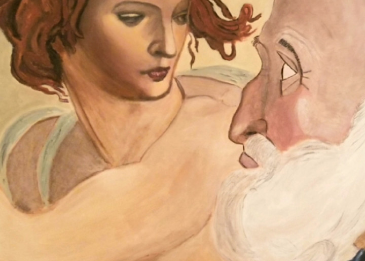 Painting Of Michelangelo S Woman With Man Painting Art | Salvatore Ingoglia / Jbellarts