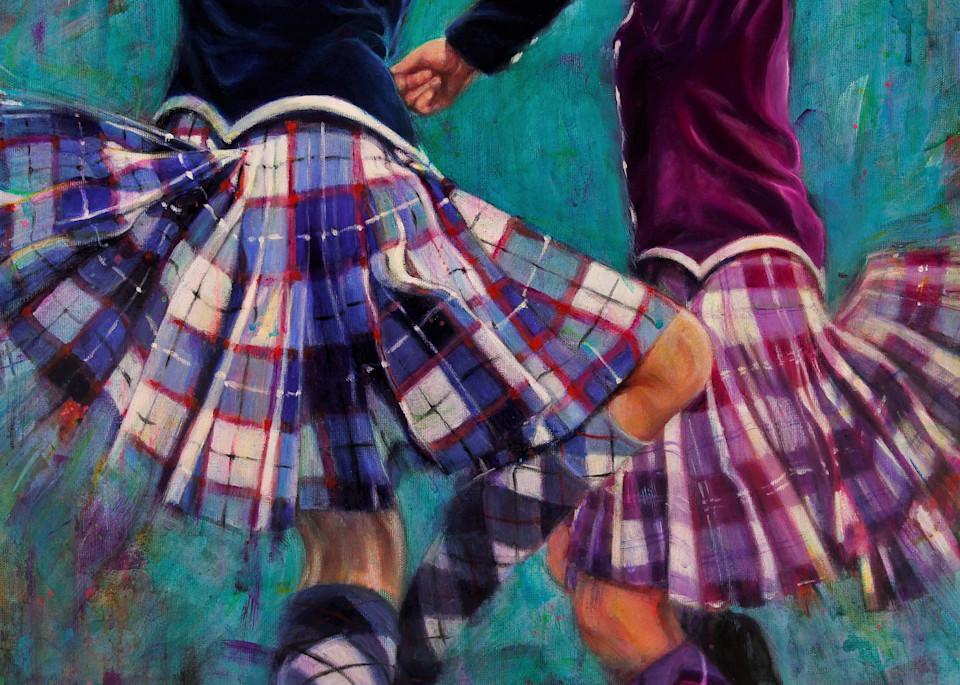 Kilts A Flyin Art | Lesley McVicar Art