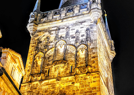 Charles Bridge Tower Up Close And Personal In Prague Photography Art | Photoissimo - Fine Art Photography