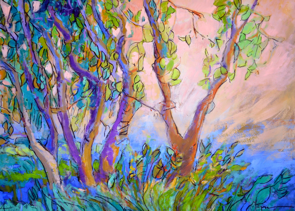 Oversize Tree Painting, Canvas Print by Dorothy Fagan