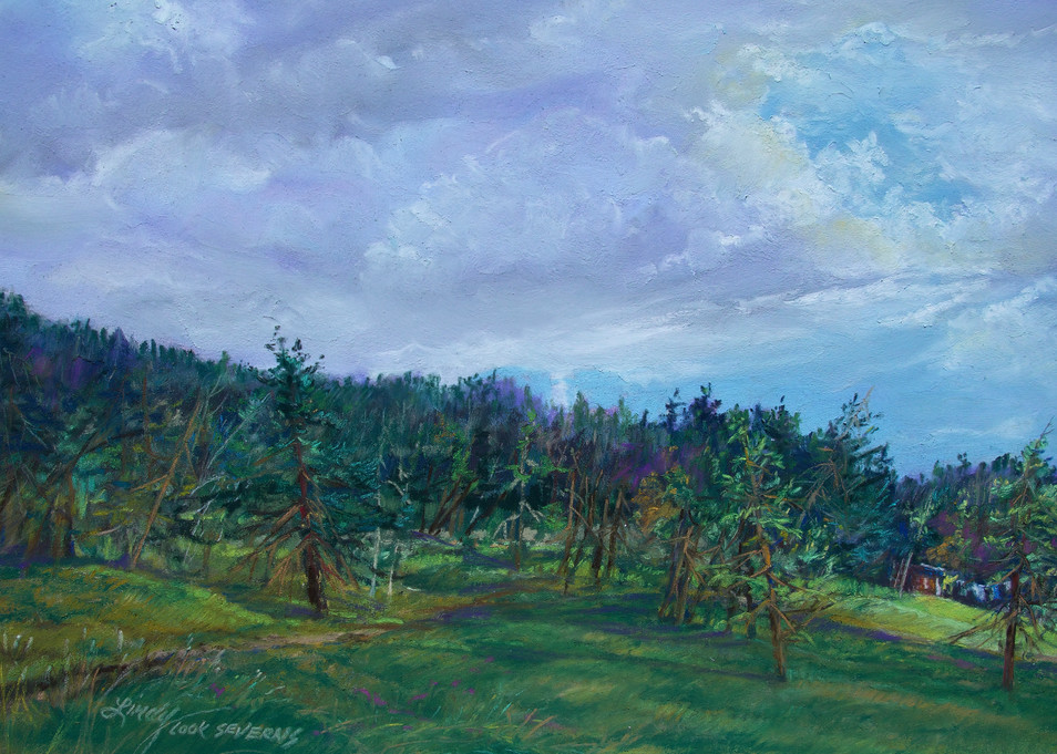 Lindy Cook Severns Art | Storm Coming and Laundry on the Line, print