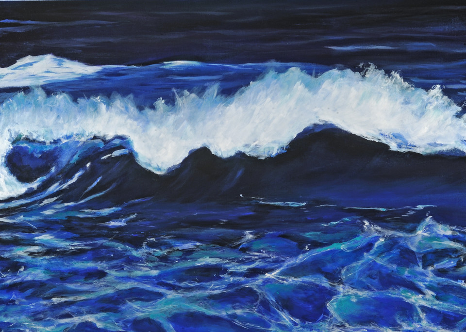 Ocean At Night Art | Joan Bixler Art