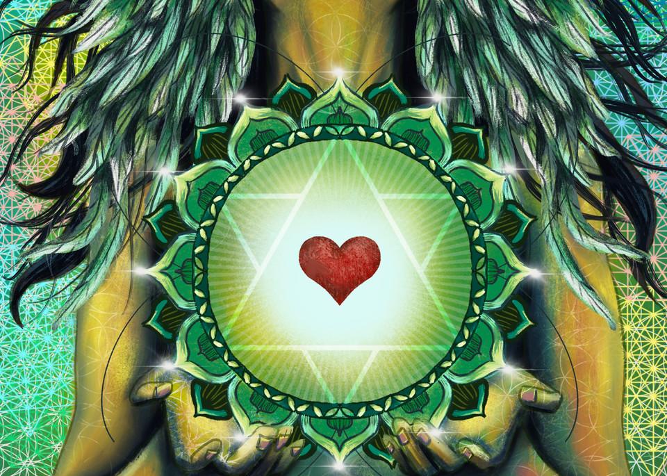 Heart Chakra Art | Priscila Soares