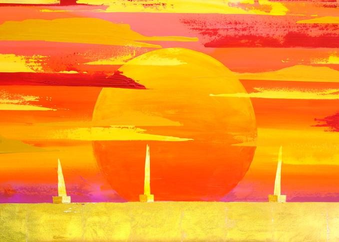 Sunset Sail Hi Res Art | benbonart