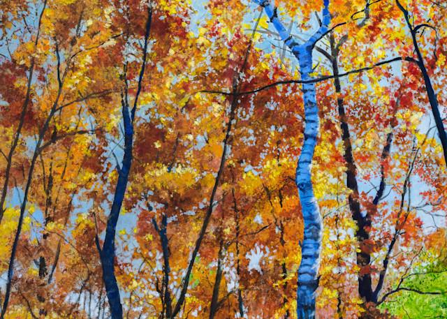 Looking Up No. 1 Left Pannel Art | Leanne Hanson Art
