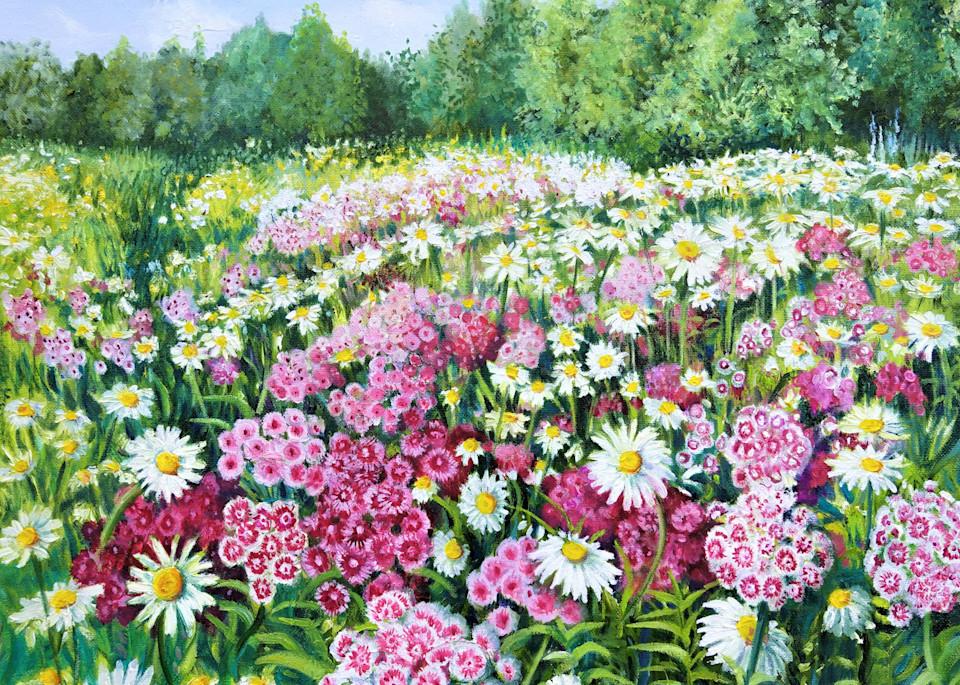 Flowers Make Me Happy Art | Leanne Hanson Art