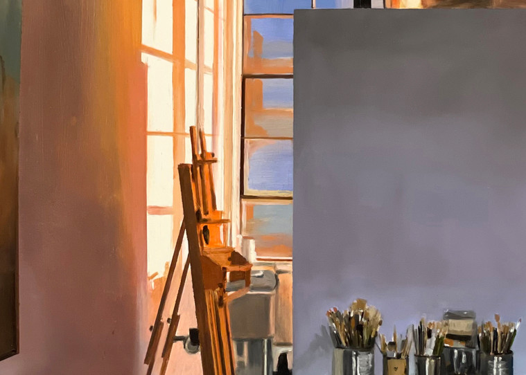 Orange Shadows in Late Afternoon