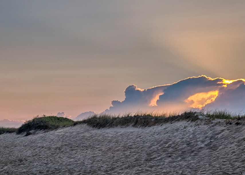 South Beach Clouds And Light Rays Art   Michael Blanchard Inspirational Photography - Crossroads Gallery