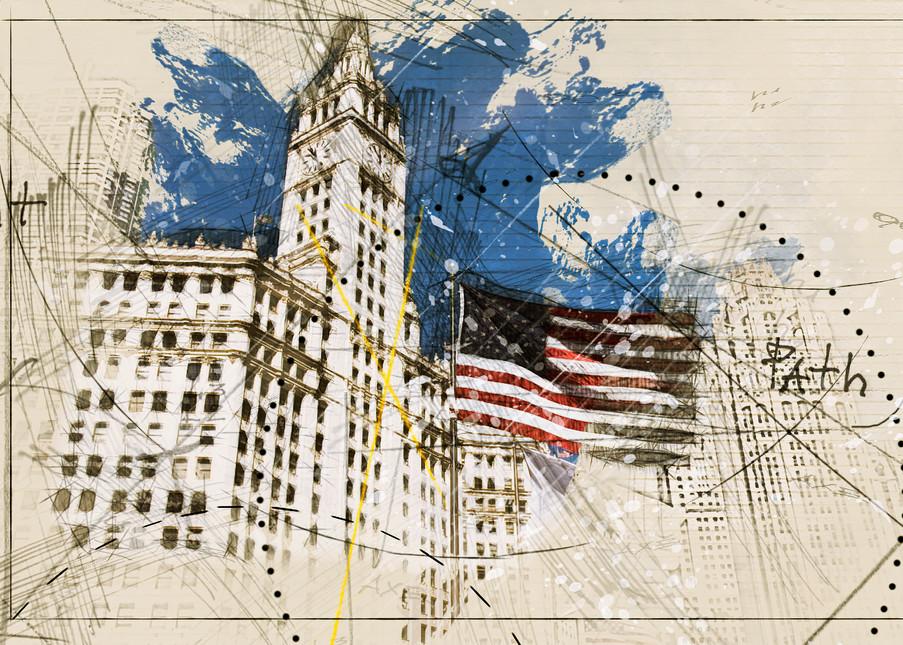 Wrigley And Flag Art | karenihirsch