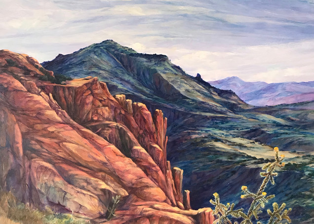 Lindy Cook Severns Art | Where the Mountains Touch the Sky, print