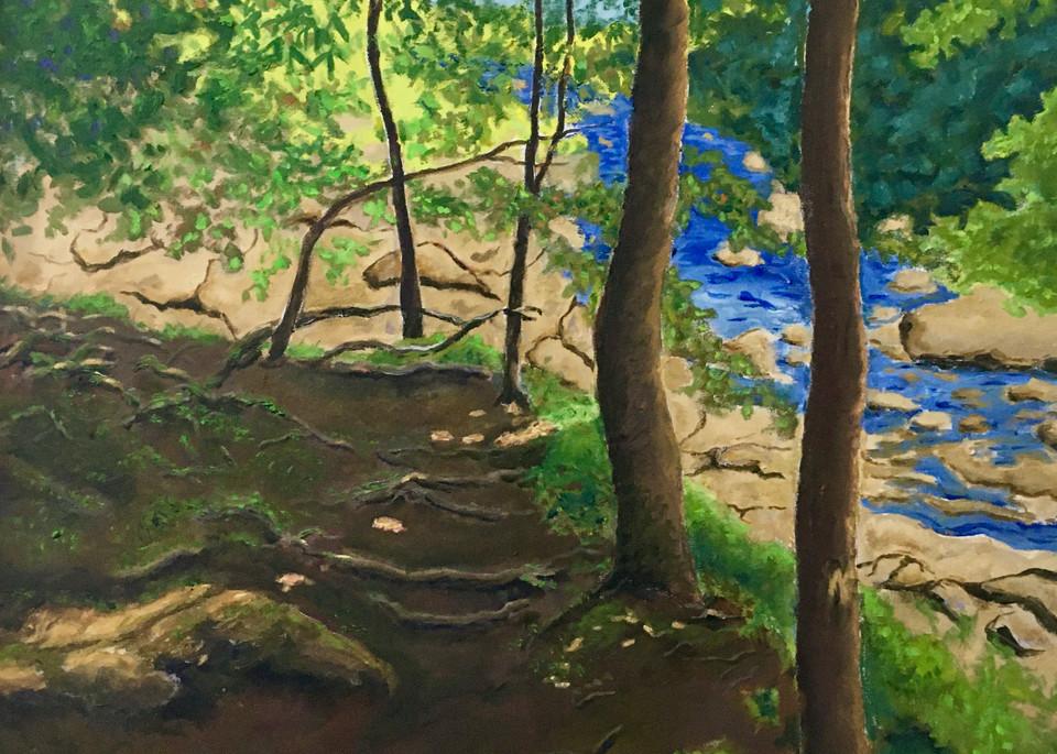Path Beside River Art | JoemcInroy