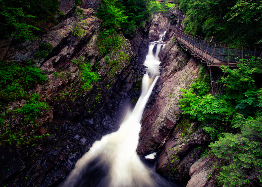 High Falls Gorge catwalk - Adirondacks waterfalls fine-art photography prints