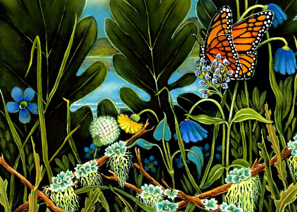 Monarch On Violet Flower Art | miaprattfineart.com