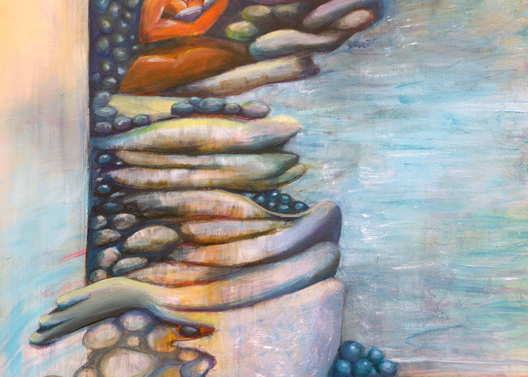 Pebble Walk Print Art | Limor Dekel Fine Art