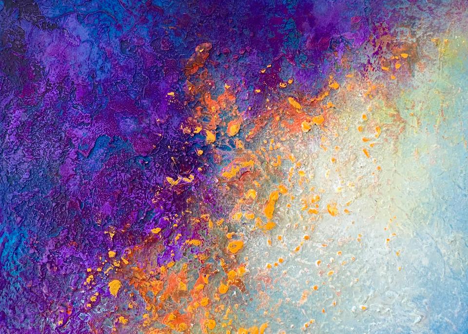 Blue Purple Orange Art | Kristina Duewell Art