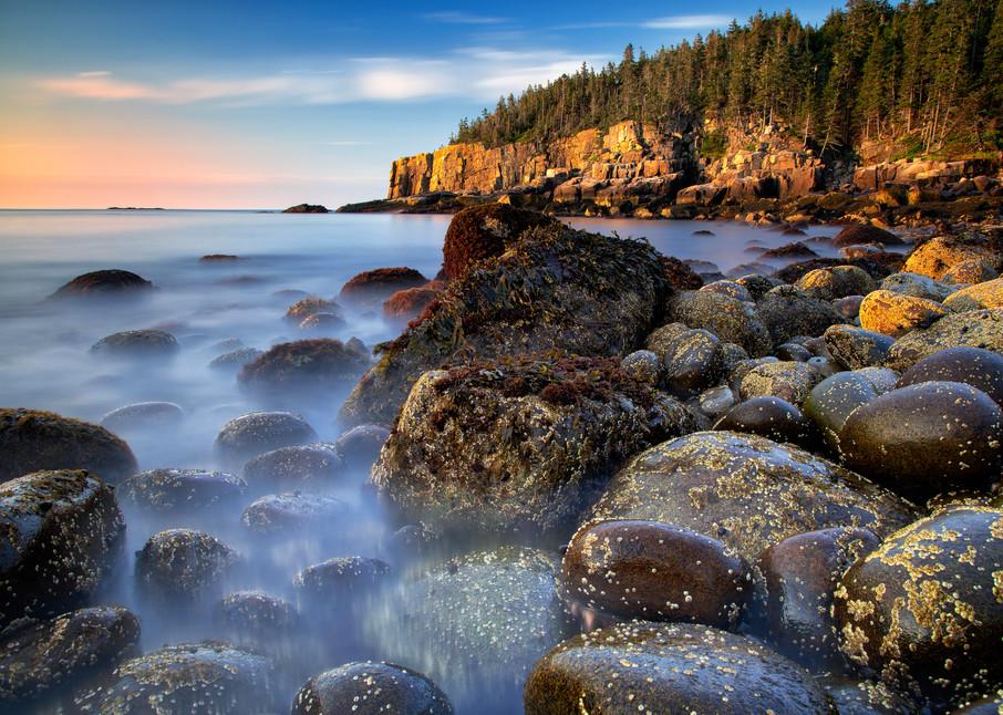Sunrise at Boulder Beach - Acadia National Park fine-art photography prints
