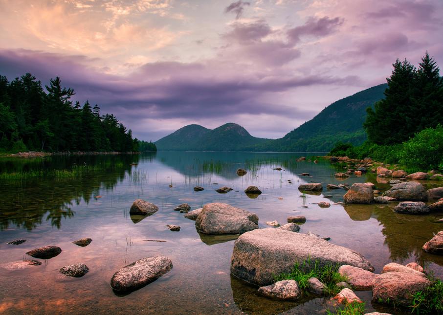 Jordan Pond Sunset - Acadia National Park fine-art photography prints