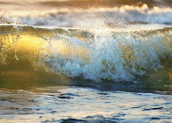 Ocean waves and waterfalls