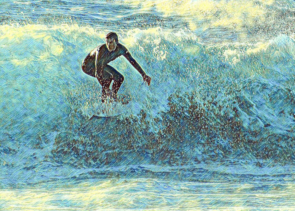 La Jolla Surfer sq.