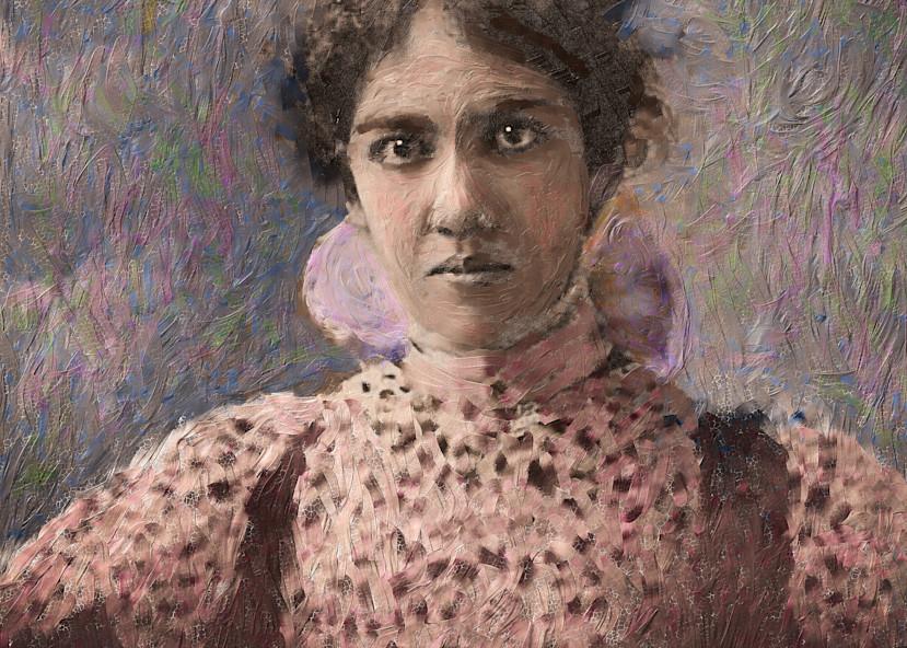 Potrait Of Hawaiian Woman Art   Rick Peterson Studio