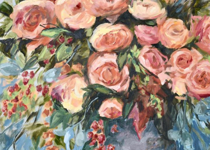 Giclee Art Print - Abundance Blue - by Contemporary Impressionist April Moffatt