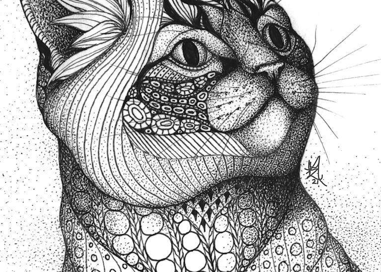 "Grey Kitty Art   Kristin Moger ""Seriously Fun Art"""