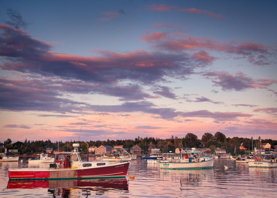 Bernard Harbor Sunset - Maine fine-art photography prints